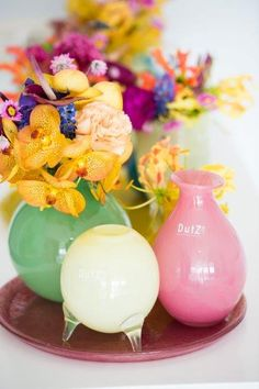 vase evita, 4 models in different colours, packed as assortment