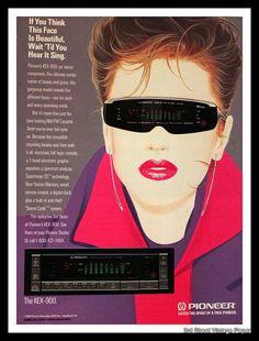 1987 Pioneer Car Stereo Ad with Cartoon by 3rdStVintagePaper