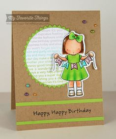 Happy Banner stamp set and Die-namics, Happy Birthday Background, Circle STAX Set 2 Die-namics, Pinking Edge Circles STAX Die-namics - Michele Boyer #mftstamps