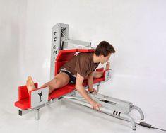 Stretching machine with electric motor. TC1, proteceuro.com Home Gym Garage, At Home Gym, Dojo, Jiu Jitsu, Home Workout Equipment, Fitness Equipment, Stretching Machine, Gym Machines, Outdoor Gym