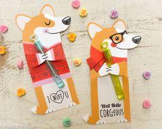 Corgi Dog Valentine Printable Welsh Corgi Puppy candy or noncandy hugger instant download by KudzuMonster