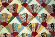 fan quilt patterns from 1920 - Bing images Diy Quilting Patterns, Sewing Machine Quilting, Hand Quilting Patterns, Quilt Block Patterns, Pattern Blocks, Quilting Projects, Quilt Blocks, Quilt Tutorials, Quilting 101