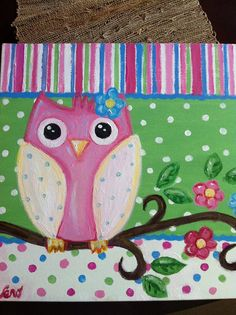 Owl Painting by ArtandSoulbyVero on Etsy