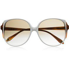 Victoria Beckham Oversized cat-eye acetate sunglasses