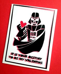 Star Wars - Darth Vader Valentine's Day Card