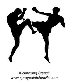 kickboxing stencil