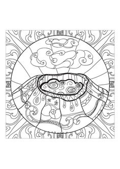 Coloriage Mandala Volcan.Display Image Coloriage Adulte Volcan 2 Mandalas Coloring Pages