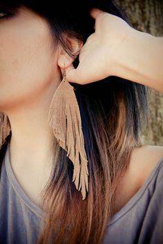 Rustic Fringe Leather Earrings by TheJNCollab on Etsy, $15.00