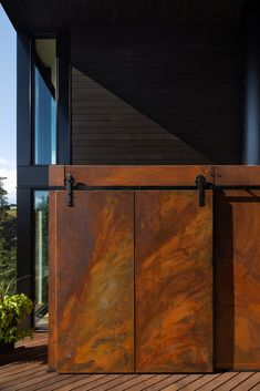 Gallery of House on the Bench / Sturgess Architecture - 9 Facade Design, Exterior Design, House Design, Garden Design, Steel Cladding, Steel Siding, Steel Barns, Narrow House, Entry Gates