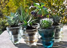 Upcycling ideas with glass insulators – home and garden decorations