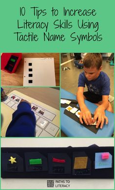 A speech-language pathologist shares 10 tips to help students with visual impairments and multiple disabilities to develop literacy skills using tactile name symbols