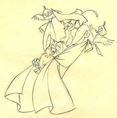 Living Lines Library: Sleeping Beauty - Production Drawings Animation Sketches, Cartoon Sketches, Disney Sketches, Disney Drawings, Art Sketches, Drawing Disney, Sleeping Beauty 1959, Disney Sleeping Beauty, Disney Concept Art