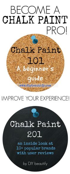 Everything you wanted to know about Chalk Paint! Be an informed consumer...get the tips at DIY beautify