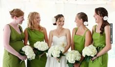 So neat - green bridesmaids dresses //  carly michelle photography | CHECK OUT MORE GREAT GREEN WEDDING IDEAS AT WEDDINGPINS.NET | #weddings #greenwedding #green #thecolorgreen #events #forweddings #ilovegreen #emerald #spring #bright #pure #love #romance