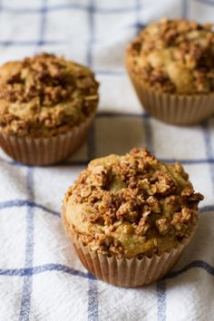 PB + J Stuffed Muffins with Peanut Butter Crumble by Edible Perspective