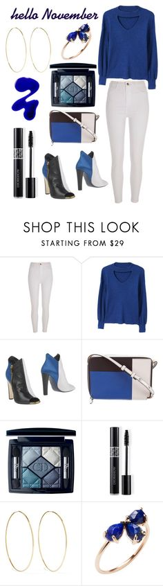 """Blues"" by morganrae02 ❤ liked on Polyvore featuring River Island, MANGO, Vionnet, Reed Krakoff, Christian Dior, Magda Butrym and Jacquie Aiche"