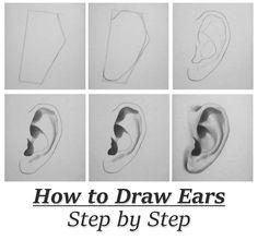 Drawing Manga Ears Step By Step Tutorials In 2019 Dibujos