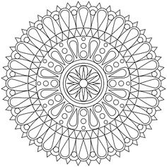 Mandala is known worldwide symbol of universe and it is mostly known in Indian regions. I think that mandala coloring pages are more for adults than they are for kids. Please see below for some of the best mandala coloring pages. Geometric Coloring Pages, Mandala Coloring Pages, Coloring Book Pages, Coloring Sheets, Mandalas Drawing, Zentangles, Mandala Meditation, Mandala Art, Craft Ideas