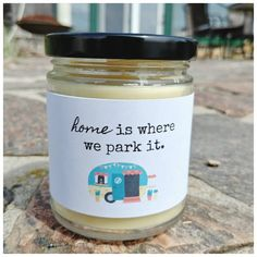 Gift from Friend for Campers Candle Labels, Candle Jars, Be My Bridesmaid, Bridesmaid Gifts, Gifts For Dad, Gifts For Friends, Kraft Gift Boxes, Linen Spray, New Homeowner