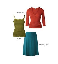 Autumn colors for summer clothing wardrobe by Kettlewell colors