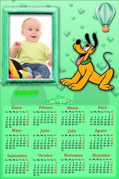 Calendarios para Photoshop: Calendario del 2017 de Pluto para Photoshop (Psd y...