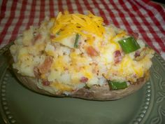 Twice (and loaded) Baked Potato