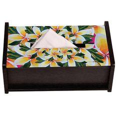 Kaleidoscope Flower Frangipani Tissue Box Holder by The Elephant Company