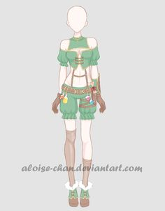 [OPEN] Item Dealer Outfit Adoptable by Aloise-chan.deviantart.com on @DeviantArt