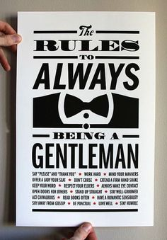 The Rules of Being a Gentleman.