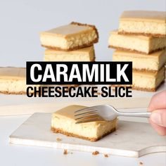 What do you get when you take Cadbury Caramilk chocolate, mix it with cheesecake and layer it over butternut snap biscuits? Your new favourite slice, that's wha Köstliche Desserts, Delicious Desserts, Dessert Recipes, Yummy Food, Baking Recipes, Cookie Recipes, Dirt Cake, Healthy Peanut Butter, Food Cakes