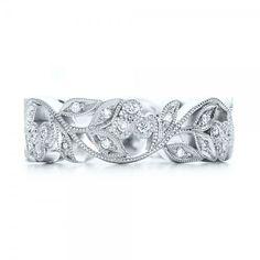 Custom Organic Diamond Eternity Band #101470 Bellevue Seattle Joseph Jewelry