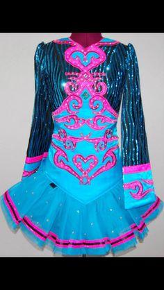 Pretty Pink KDSF Irish Dance Dress Solo Costume For Sale