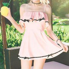 This item: Black/Pink Sweet Bowknot Swimsuit Kawaii Fashion, Cute Fashion, Girl Fashion, Fashion Outfits, Fashion Top, Street Fashion, Pretty Outfits, Cute Outfits, Two Piece Swimwear