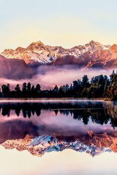 Lake Matheson, near the Fox Glacier in South Westland, New Zealand