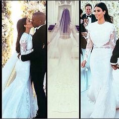 Kim Kardashian's wedding dress.. Not a fan of it, I like dresses with sleeves, but not for a wedding dress... But the back of her dress is stunning