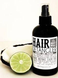 Bottle labels for Gnarly Whale's hair detangler