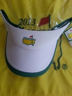 2013 Masters Golf Tournament Visor from Augusta National - Green/White Augusta National Golf Club, Masters Golf, Golfers, Golf Carts, Spaces, Green, Ebay, Fashion, Moda