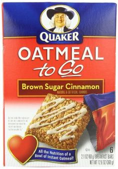 Quaker, Oatmeal To Go, Brown Sugar Cinnamon Breakfast Bars, 6-Count Boxes (Pack of 6) by Quaker, http://www.amazon.com/dp/B001E50W2Q/ref=cm_sw_r_pi_dp_BYiKrb157VHCJ