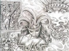 Chicano Drawings Of Roses chicano Prison Art, Lowrider Art, Art Drawings, Drawings, Aztec Drawing, Chicano Art Tattoos, Art, Mexican Art, Chicano Drawings