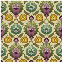 Love this - antique wallpaper adaptation Persian motifs Cross stitch pattern PDF. $4.99, via Etsy.
