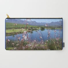 Cape Wineland Carry-All Pouch by crismanart Pouches, Carry On, Cape, Pastel, Illustration, Artwork, Photography, Painting, Mantle