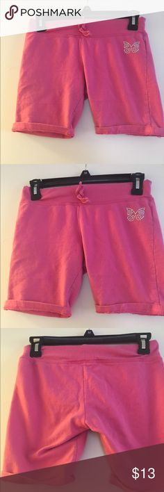 Star Ride Pink 10/12 Above-knee Shorts Star Ride Pink 10/12 Above-knee Shorts With Bling Butterfly Detail Star Ride Bottoms Shorts