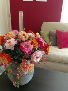 Zomerse kleuren bij Annefleurs zijden bloemen!