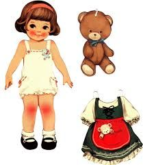 Bilderesultat for vintage paper dolls