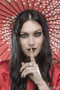 "Cristina Scabbia: FrontLady for the band Lacuna Coil.  My Loving Heart Lost In The Dark. ""Lacuna Coil"""