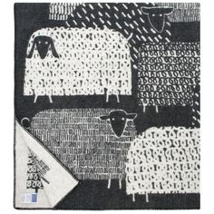 Pakapaat Finnish Wool Sheep Blanket on Hus & Hem