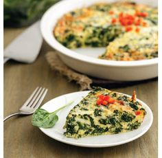 "For Recipe: CLICK on PIC and when taken to 2nd pic click again..Spinach Quiche...  ...Recipe by George Stella... ...For tons more Low Carb recipes visit us at ""Low Carbing Among Friends"" on Facebook"