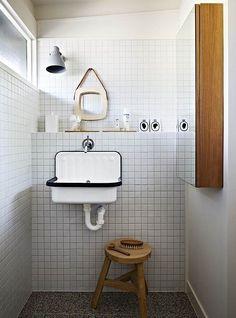 Alape Bucket Sink - Carrelage Petits carrelages carrés