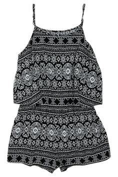 Mono aztec Playsuit by Bardot Junior. found via Myer Online