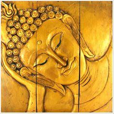 Reclining Buddha wall art.